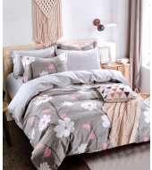 Kahepoolse mustriga voodipesukomplekt,160x200cm, 2-osaline puuvillasatiinist