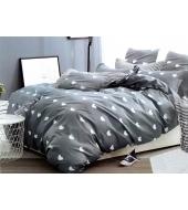 Kahepoolse mustriga voodipesukomplekt 160x200 3-osaline, puuvillasatiinist
