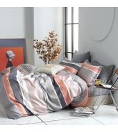 Kahepoolne voodipesukomplekt 160x200 3-osaline, 100% puuvillasatiin