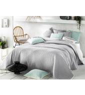 BOHEMIA voodikate 200x220 Kahtepidi kasutatav: helehall/valge