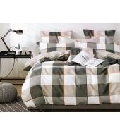 Kahepoolse mustriga voodipesukomplekt,160x200cm, 3-osaline puuvillasatiinist