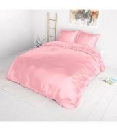"""Beauty Skin Pink"", voodipesu siidisest mikrofiibrist 200x220 cm 3-osaline"