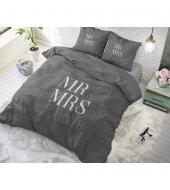 """Mr and Mrs Elegant Anthracite"",  200x220 cm,  puuvillane, 3 osaline voodipesukomplekt"