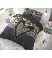 """""""Panther Love Heart Brown""""  puuvillane voodipesukomplekt, 200x220 cm, 3 osaline"""