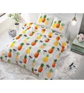 """""""Pineapple White"""",  200x220 puuvillasegust 3 osaline voodipesukomplekt"""