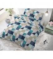 """Squares Grey"",  140x220 puuvillasegust voodipesukomplekt"