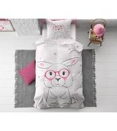 """Wise Bunny""  puuvillane voodipesukomplekt, 140x220 cm, 2 osaline"