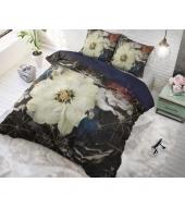 """Parrot Flower Black""  puuvillane voodipesukomplekt, 200x220 cm, 2 osaline"