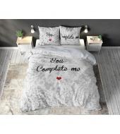 """You Complete Me"",  200x220 cm,  puuvillasegust, 3-osaline voodipesukomplekt"