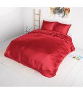 Punane Beauty Skin voodipesu siidisest mikrofiibrist 200x220 cm 3-osaline