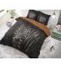 """Zebra Mansion Black""  puuvillane voodipesukomplekt, 140x220 cm, 2 osaline"